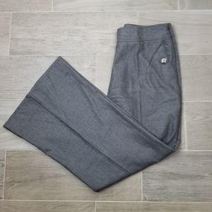 Burberry High Waist Gray Wool Wide Leg Pants Sz 10
